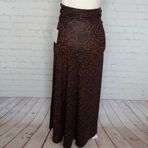 LuLaRoe Maxi Skirt Black Red Yellow XXS NWT